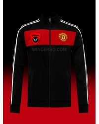 Man U Black Red Authentic Graphics Jacket (20/21)