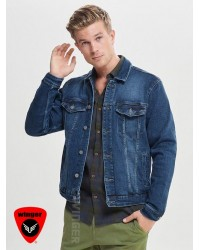 STRETCH BLUE DENIM JACKET- ONLY & SONS