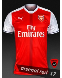 Arsenal Authentic Soccer Jersey 17(Red)