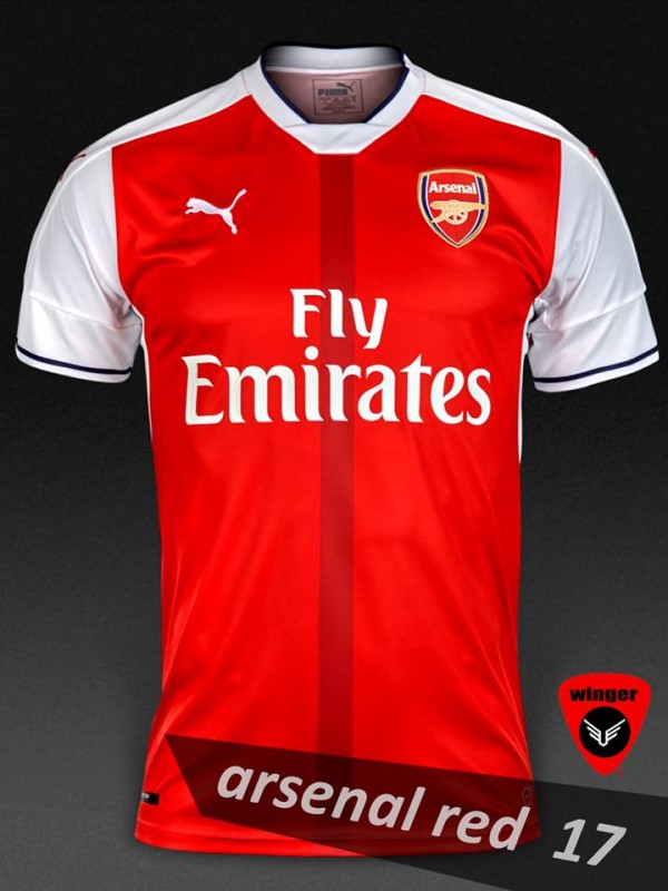 huge selection of 449a8 31cf4 Arsenal Authentic Soccer Jersey 17(Red)