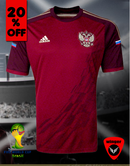 Russia ORIGINAL Jersey 2014 (Home)