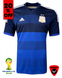 Argentina Authentic Soccer Jersey 2014 (Away)