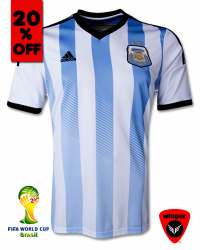 Argentina Authentic Soccer Jersey 2014 (Home)