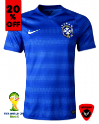 Brazil Authentic Soccer Jersey 2014 (Away)