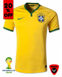 Brazil Authentic Soccer Jersey 2014 (Home)