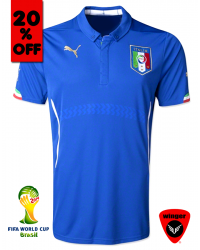 Italy Authentic Soccer Jersey 2014 (Home)