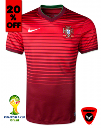 Portugal Authentic Soccer Jersey 2014 (Home)