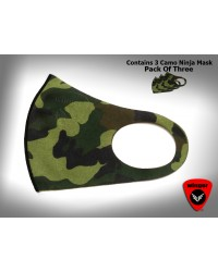 Camo Ninja Mask (Pack of 3)