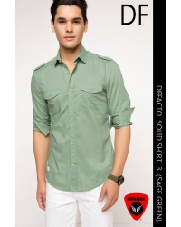DEFACTO Solic Shirt 3 (Sage Green)