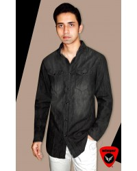 Jack & Jones Black Denim Shirt