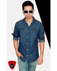 Jack & Jones Blue Denim Shirt