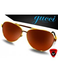 Gucci Gunman Aviator Sunglass (Golden)