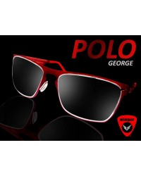 Polo George Red Metallic Wayfarer Sunglass