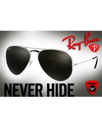 Ray-Ban-Polarized Aviator J3 (Black)