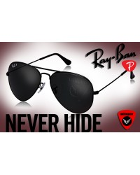 Ray-Ban Polarized Aviator J4 (All Black)