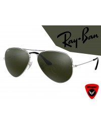 Ray-Ban Pilot Aviation Sunglass 3 (Silver Green)