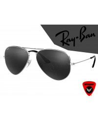 Ray-Ban Pilot Aviation Sunglass 4 (Silver Black)