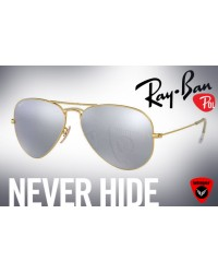 Ray-Ban-Silver Polarized Aviator J2
