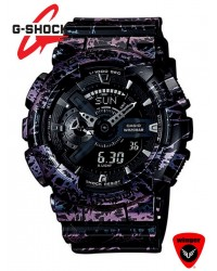 G SHOCK Marbled Pattern Polarizing GA-110 Watch B9