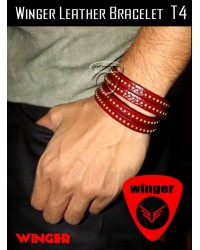Winger Leather Bracelet T4