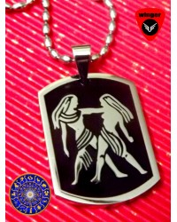 GEMINI ZODIAC Sign Locket(with Chain)