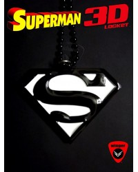 Superman 3D Locket Black/White