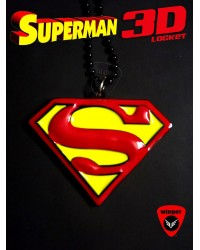 Superman 3D Locket Red/Yellow